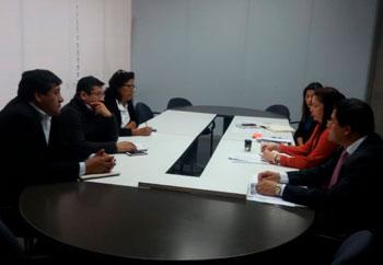 docentes reunidos con el ministerio de educación