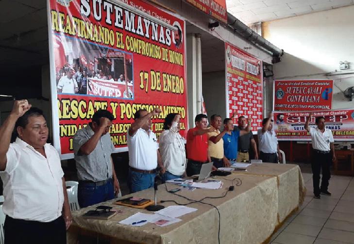 Maestros participaron de asamblea regional del Sute Loreto