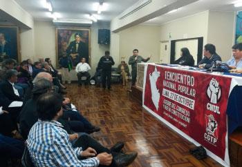 Sindicatos reconocidos del Perú luchando por los derechos de la clase trabajadora.