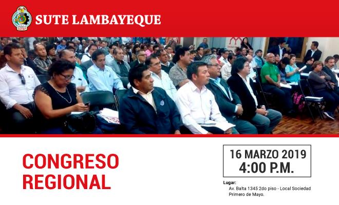Congreso Regional del Sute Lambayeque