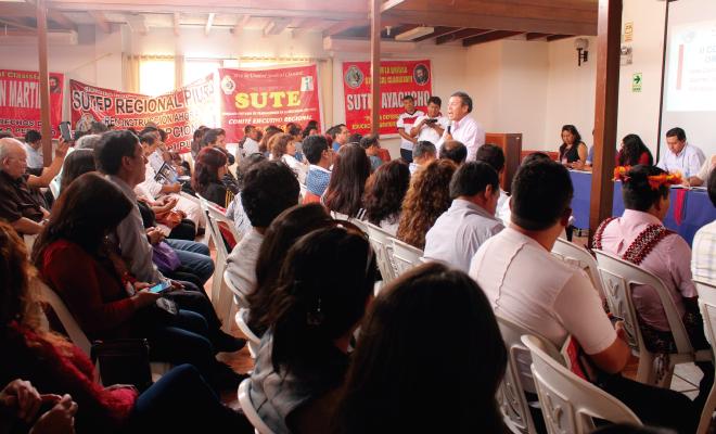 Congreso regional del Sutep en Ñaña