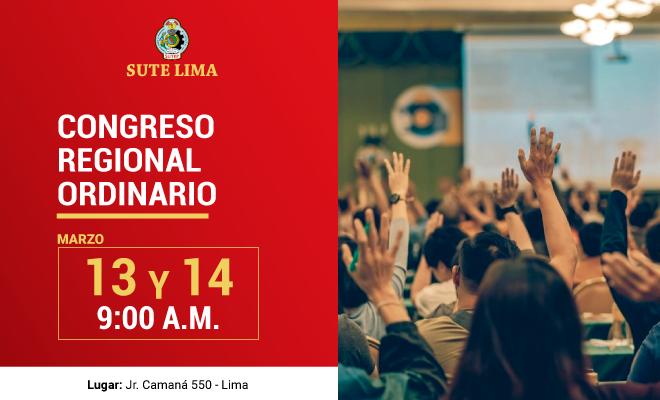 Afiche del congreso regional del Sute Lima