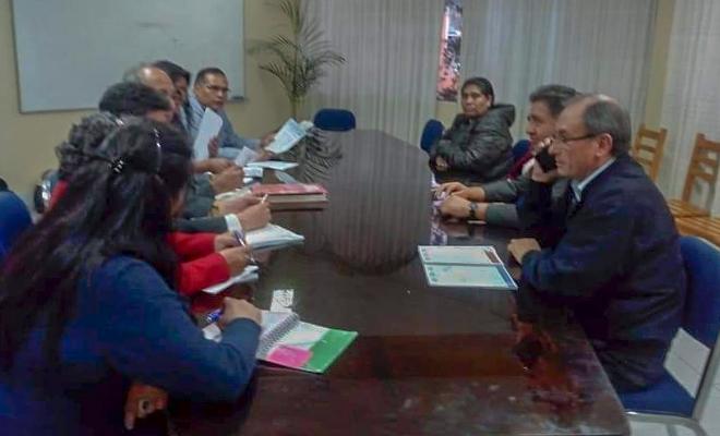 Reunión de dirigentes del Sutep con el gobierno regional de Cajamarca