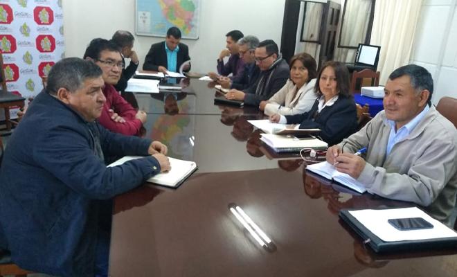 Reunión entre el Sute Amazonas y el gobierno regional
