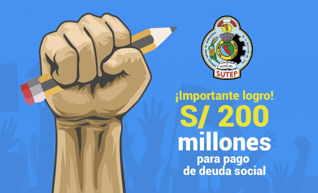 El Sutep logra presupuesto para el pago de la deuda social