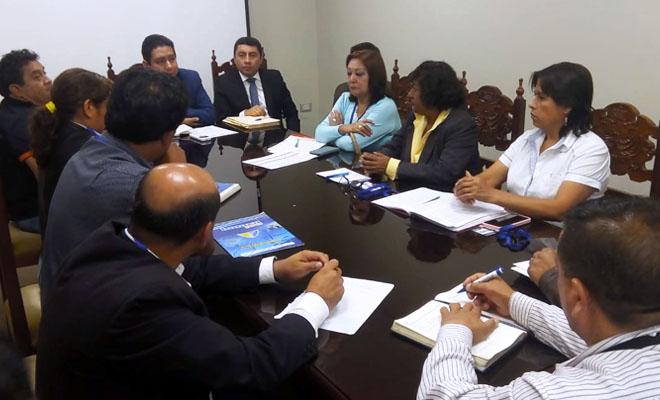 Reunión entre el Sutep La Libertad y el gobierno regional
