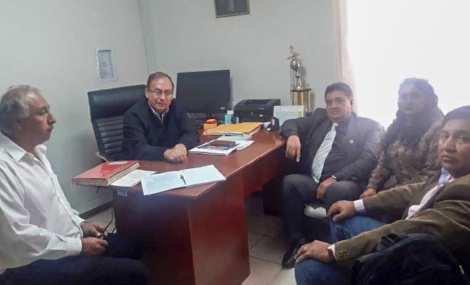 mesa de trabajo con la DRE Cajamarca