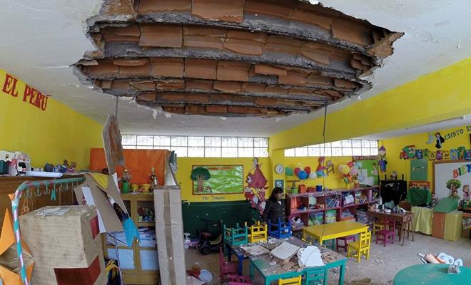 colegio destruido sutep