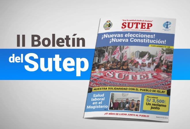Boletín informativo del Sutep