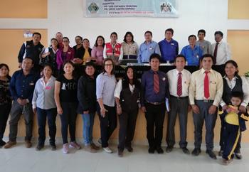 Estuvieron presentes maestros y auxiliares del anexo de Santa Cruz de Piedra Grande.